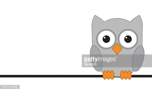 Owls are sitting on a wire