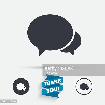 Speech bubbles icon. Chat or blogging sign.