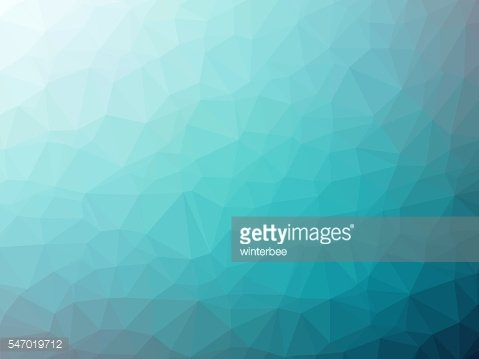 Teal gradient polygon shaped background
