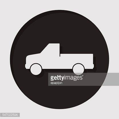 information icon - pickup with a flatbed