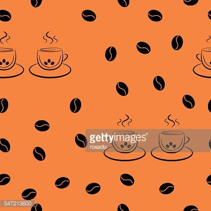 Seamless pattern in random order from a pair of cups