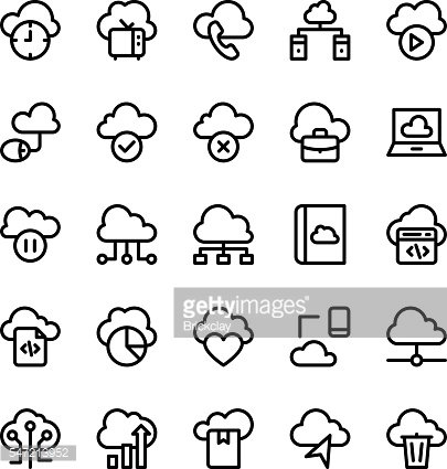Cloud Computing Vector Icons 3