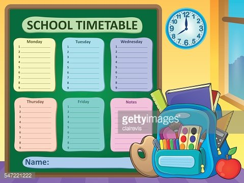 Weekly school timetable composition 6