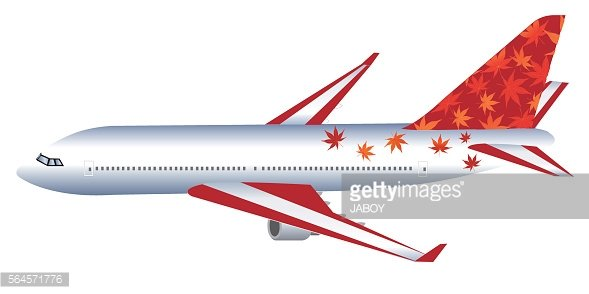 Airplane rides autumn leaves background