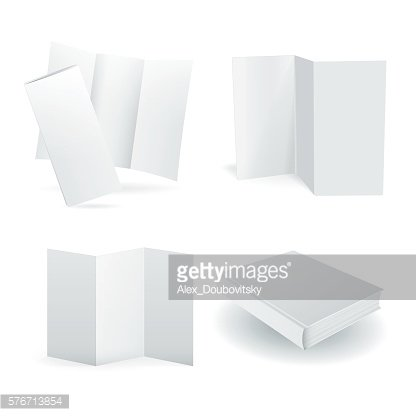 Blank vector paper mockups set isolated on white
