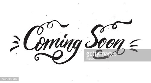 'Coming Soon' calligraphic lettering