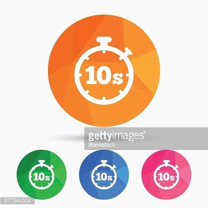 Timer 10s sign icon. Stopwatch symbol.