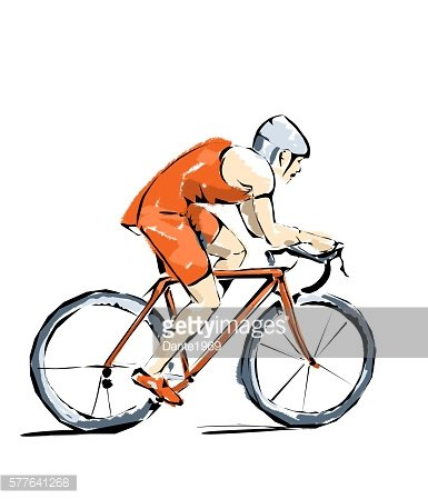 Cycling illustration, athlete who practices sports