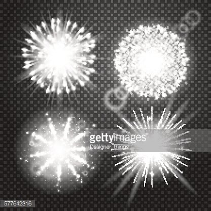 Vector Glowing lights Effects isolated on transparent background. Flash with