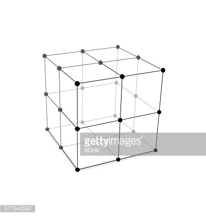 Cube Made is Mesh Polygonal Element