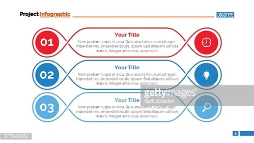 Three Outlined Steps Slide Template