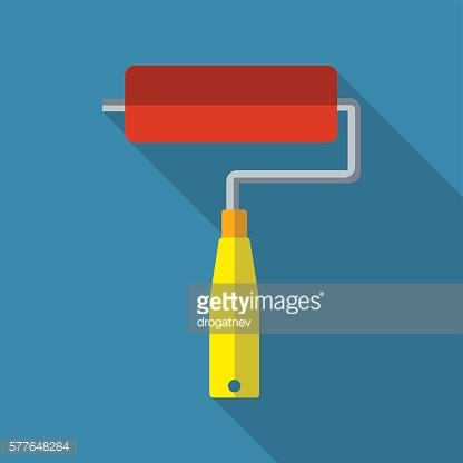 Paint roller flat icon.