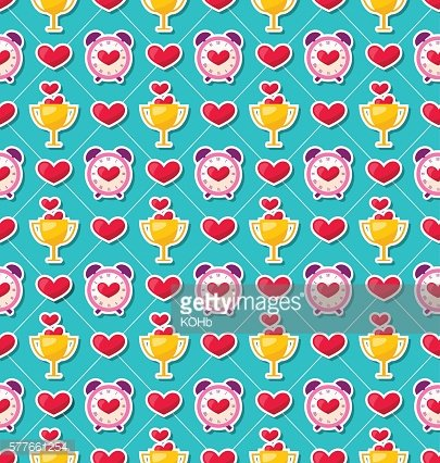 Colorful Seamless Pattern for Valentines Day