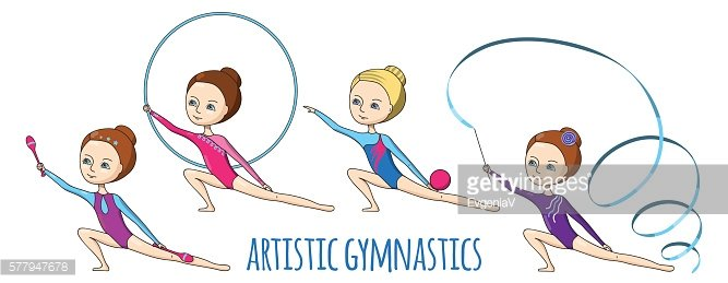 Sports for kids. Artistic gymnastics