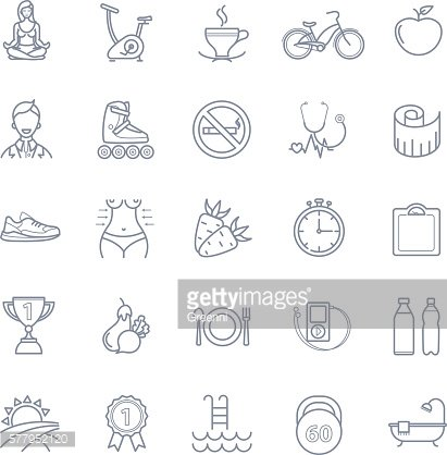 Sport and healthy life icons