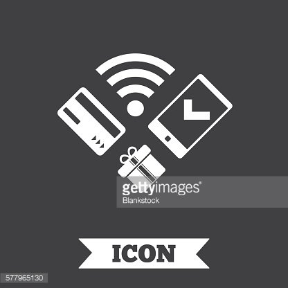 Mobile payments icon. Smartphone, credit card.