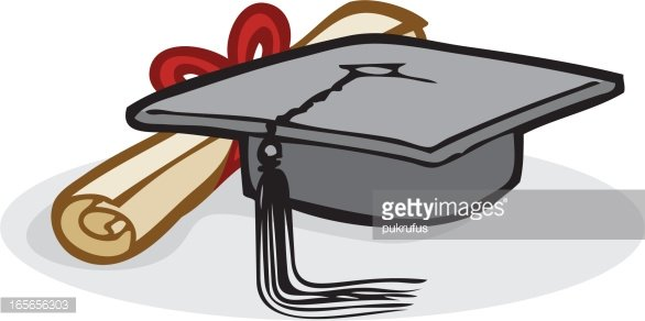 graduation mortarboard and certificate premium clipart clipartlogo com