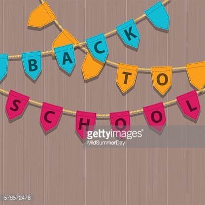 Bunting decoration with Back To School colorful text