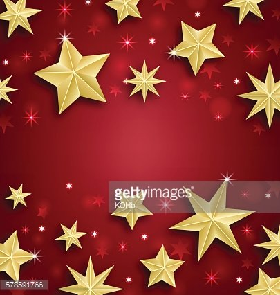 Starry Border for Merry Christmas and Happy New Year
