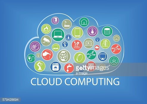 Cloud computing vector illustration with internet of things