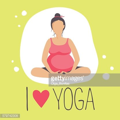 Pregnant woman doing Yoga.Batterfly or lotus Pose