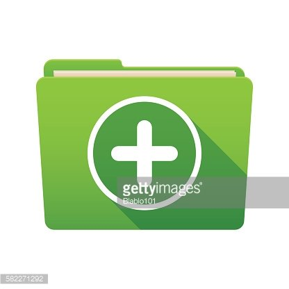 Folder icon with a sum sign