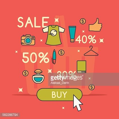 Vector illustration of best sale in cartoon style
