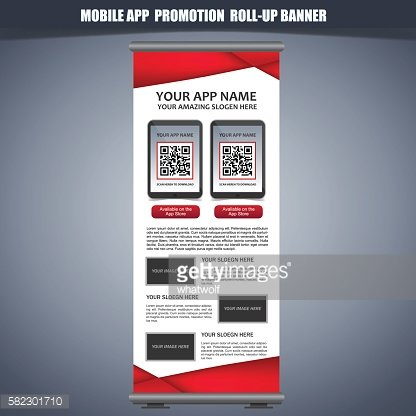 Red Roll Up Banner template