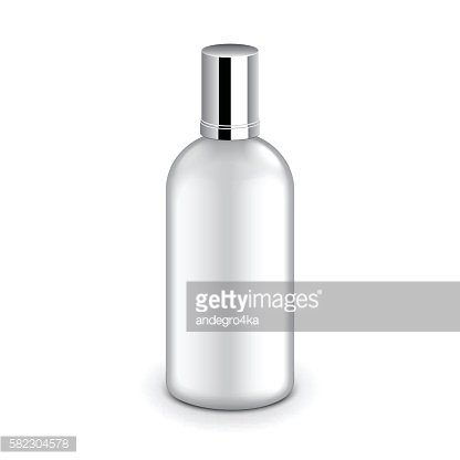 Plastic bottle with metallic cap isolated vector