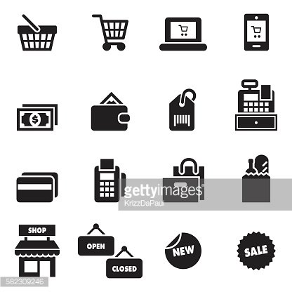 Shopping Icons [Black Edition]