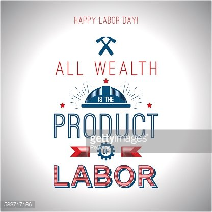 Card quote - All wealth is the product of labor