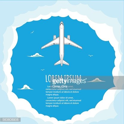Commercial flights in airplanes.