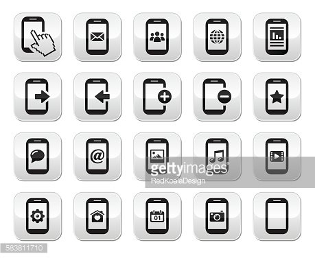 Smartphone/mobile or cell phone buttons set