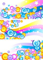Set of colourful abstract banners