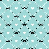 Vector pattern with crown