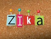 Zika Virus Pinned Ransom Letters Illustration