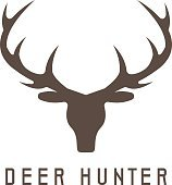 deer head vector design template,hunting illustration