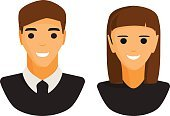 Man and woman silhouette icon