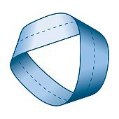 Blue Moebius strip with centerline