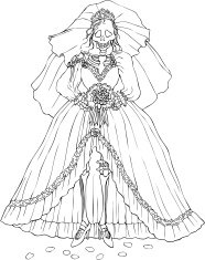 Bride Skeleton on Day of the Dead