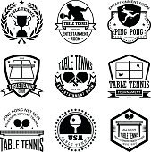 Table Tennis Badges