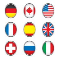 World flags collection D 1/4