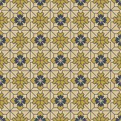 Antique seamless background image of check cross geometry line flower