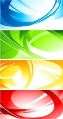 Set of abstract colourful banners