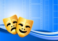 Comedy and tragedy theater masks background