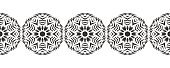Snowflake. Christmas seamless pattern. Circular ornament and decorative lace.