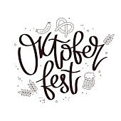 Oktoberfest. The trend calligraphy.