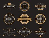 Retro banners and labels for company logotype