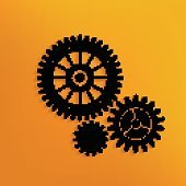 Gear concept design on yellow background,vector