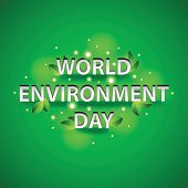 World environment day concept on green background